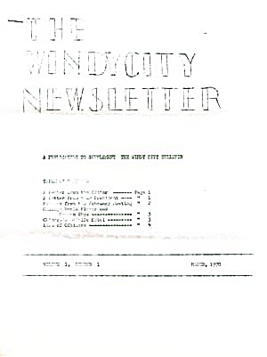 Windy City Newsletter Postcard Collectors Voice (Image1)