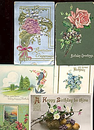 Vintage Postcards: Birthday Set Of 24