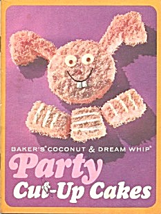 Baker's Coconut Animal Cut-up Cakes Rare Cover