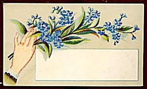 Vintage Calling Card Lady's Hand Forget-me-nots (Image1)