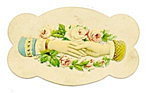Vintage Calling Card 2 Hands Shaking (Image1)