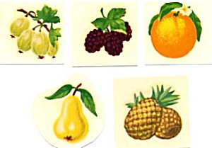 Vintage Meyercord Decals Small Fruits Set Of 15
