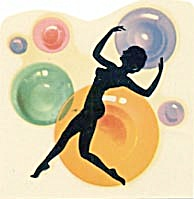 Vintage Meyercord Decal Deco Dancer (Image1)