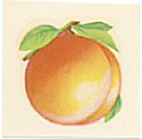 Vintage Meyercord Silhouette Decal Set Of 3 Fruit