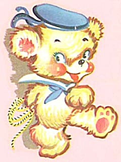 Vintage Meyercord Decal Sailor Teddy Bear (Image1)