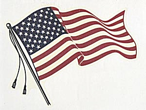 Vintage American Flag Decal (Image1)