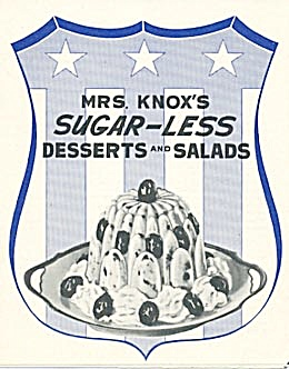 Mrs. Knox's Sugar-Less Desserts and Salads (Image1)