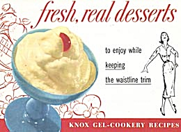 Knox Gel Cookery Recipes Fresh Real Desserts Cookbook