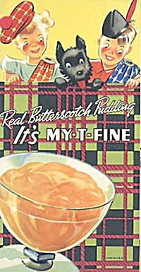 Vintage My T Fine Butterscotch Pudding Dessert Recipes
