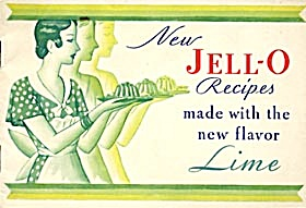 Vintage 1930 New Lime Jello Recipes
