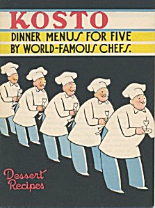 Kosto Dinner Menus For Five By World-famous Chefs