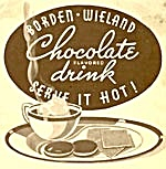 Vintage Borden Wieland Chocolate Flavored Drink Recipes (Image1)