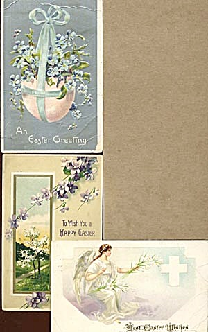 Vintage Easter Postcards Set of 3 (Image1)