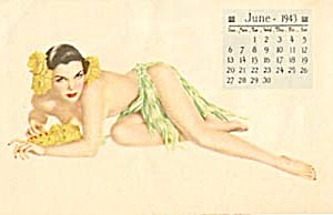 Vintage 1943 Varga Girl Calendar Order Form (Image1)
