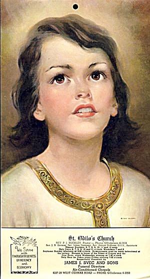 Vintage 1957 Catholic Calendar (Image1)