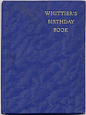 Vintage Whittier's Birthday Book (Image1)