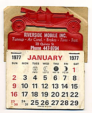 Mobile Inc. 1977 Calendar (Image1)