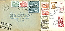 Vintage 43 Envelopes with Stamps & Letters (Image1)