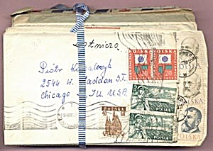 Vintage 30 Envelopes with up to 5 Stamps Each (Image1)