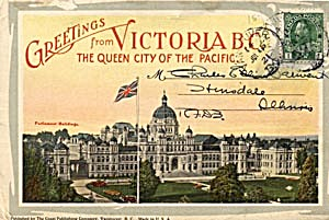 Fold Out Souviner Postcard Booklet Victoria B. C.