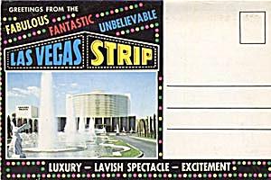 Fold Out Souviner Postcard Booklet Las Vegas (Image1)
