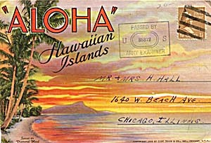 Fold Out Souviner Postcard Booklet ALOHA (Image1)