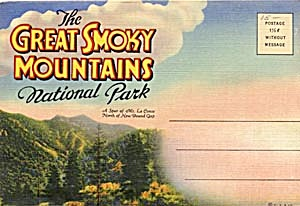 Fold out souviner postcard booklet Great Smoky Mountain (Image1)