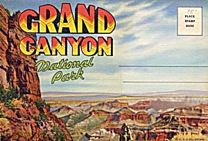 Fold Out Souviner Postcard Booklet Grand Canyon (Image1)