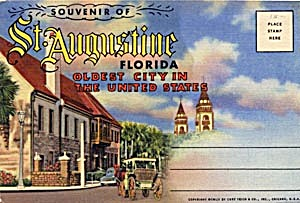 Fold Out Souviner Postcard Booklet St. Augustine (Image1)