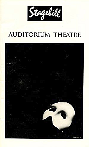 "Stagebill/paybill: ""the Phantom Of The Opera"""