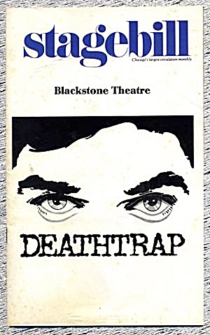 Stagebill/playbill:deathtrap Chicago