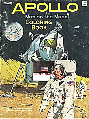 Vintage Apollo Man on the Moon Coloring Book (Image1)