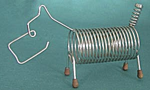 Vintage Metal Scottie Letter Holder (Image1)