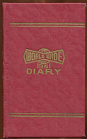 Vintage 1951 World Wide Diary