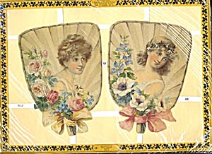 Die Cuts of Fans with Women Set of 3 Sheets (Image1)