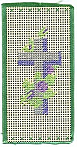 Vintage Punch Paper Bookmark/ Lavender Cross (Image1)