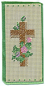 Vintage Punch Paper Bookmark Brown Cross (Image1)