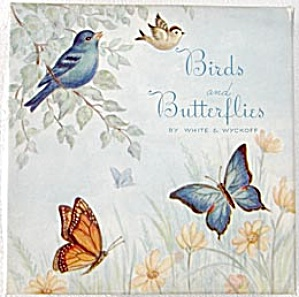 Vintage Box with Butterflies and Birds on Lid (Image1)