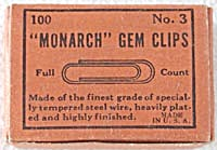 Vintage Monarch Gem Clips (Image1)