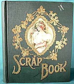Vintage Embossed Scrapbook With Lady (Image1)