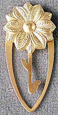 Brass Flower Bookmark (Image1)