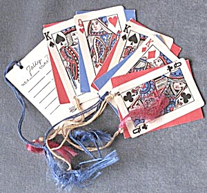 Vintage Playing Card Tally Cards Set Of 6