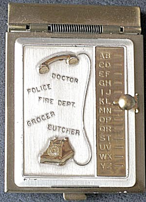 Vintage Metal Mini Address Book (Image1)