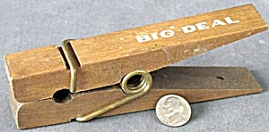 Vintage Wood Office Clip Clothespin