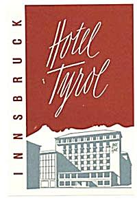 Vintage Luggage Label: Hotel Tyrol Innsbruck (Image1)