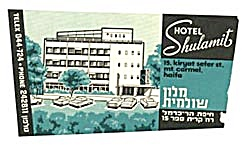 Vintage Luggage Label: Hotel Shulamit (Image1)