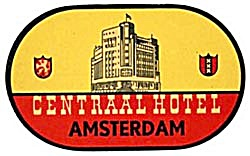 Vintage Luggage Label: Hotel Centraal Amsterdam (Image1)