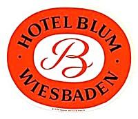 Vintage Luggage Label: Hotel Blum Wiesbaden (Image1)