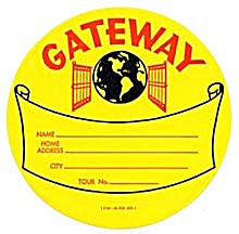 Vintage Luggage Label: Gateway (Image1)