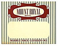 Vintage Luggage Label: Mount Royal Hotel (Image1)